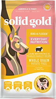 Solid Gold Hund-N-Flocken with Real Lamb, Brown Rice & Barley - Whole Grain - Holistic Adult Dog Food with Probiotic Suppo...