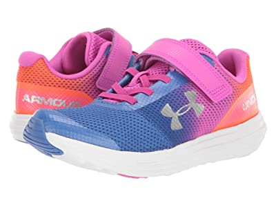 Under Armour Kids UA GPS Surge RN Prism AC (Little Kid) (Tempest/Peach Plasma/Metallic Silver) Girls Shoes