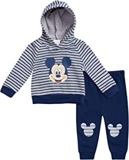 Disney Baby Boys' Mickey Mouse Hoodie and Pant 2-Piece Set (Newborn and Infant)