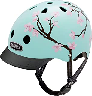 Nutcase - Patterned Street Bike Helmet for Adults, Cherry Blossoms, Medium