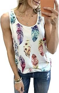 Womens 3/4 Sleeve Feather Print Baseball Shirts Raglan Casual Color Block Long Tunic Tops Blouses