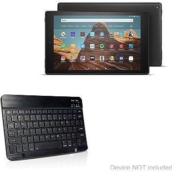Amazon Fire HD 10 (2019) Keyboard, BoxWave [SlimKeys Bluetooth Keyboard] Portable Keyboard with Integrated Commands for Amazon Fire HD 10 (2019) - Jet Black