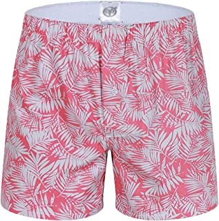 Men's Pyjama Shorts Nightwear Super Soft Lounge Wear Pj Bottoms Boxer Shorts with Button Fly Loose Fit Underwear(Pack of 1)