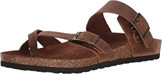 WHITE MOUNTAIN Shoes Gracie Leather Footbeds Sandal