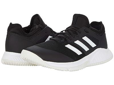 adidas Court Team Bounce (Black/White/Silver Metallic) Women