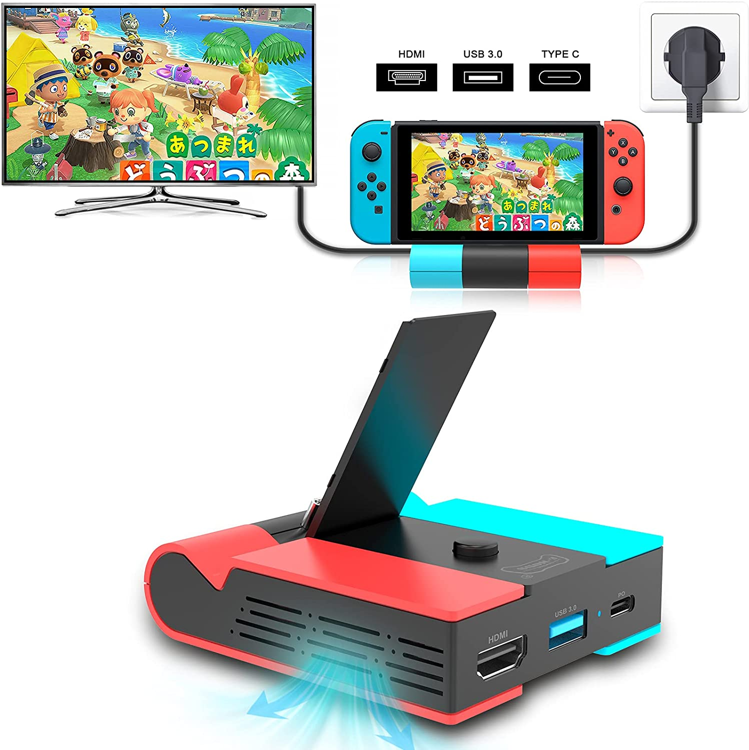 E-MODS GAMING Switch Seattle Mall Charging Foldable Branded goods St TV Dock