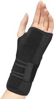 OTC Wrist Brace, Adjustable Thumb Strap Support, Black (Left Hand), Medium