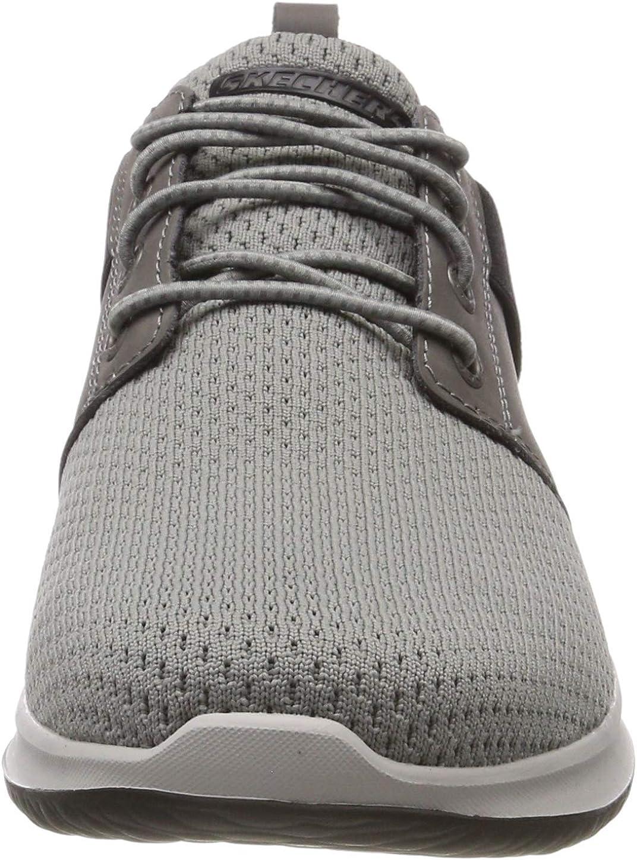 Skechers Delson-Brant, Sneaker Uomo Grigio Grey Gry