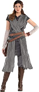 Star Wars 8: The Last Jedi Rey Costume for Adults, Includes a Jumpsuit, Arm Warmers, and a Belt