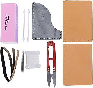 Pssopp Kit D'outils en Cuir pour Couverture de Carte, Produits Semi-Finis Ensemble de Sacs en Matériau Simple avec Outils ...