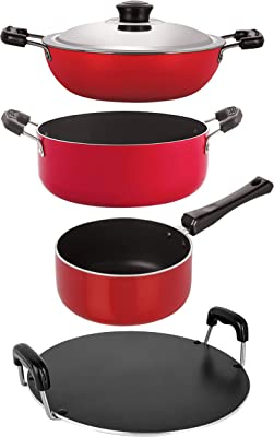 Nirlon Non-Stick Aluminium Cookware Gift Set of 4Pcs (DKD(B)_SP(M)_RT_CS24)