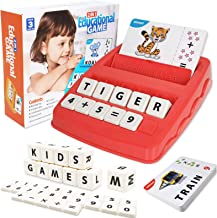 SHANDERBAR Learning Toys for 3 4 5 6 Year olds Boys Girls, Matching Letter Game Spelling Educational Toys Games for 3 4 5 ...