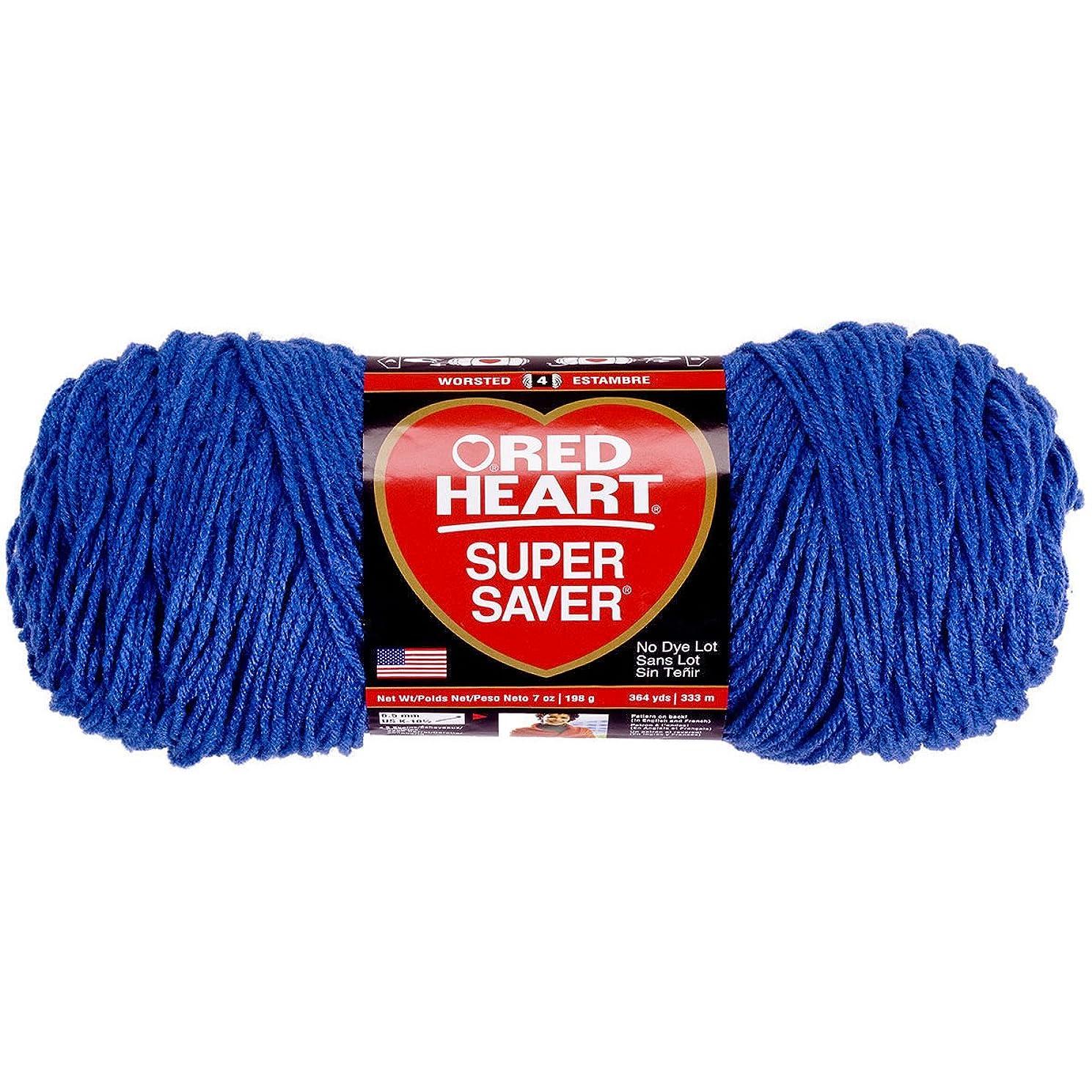 Red Heart Super Saver Yarn-Blue Suede