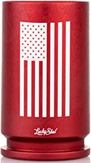 Genuine 30MM A-10 Warthog America Flag Cannon Shell Shot Glass in Red