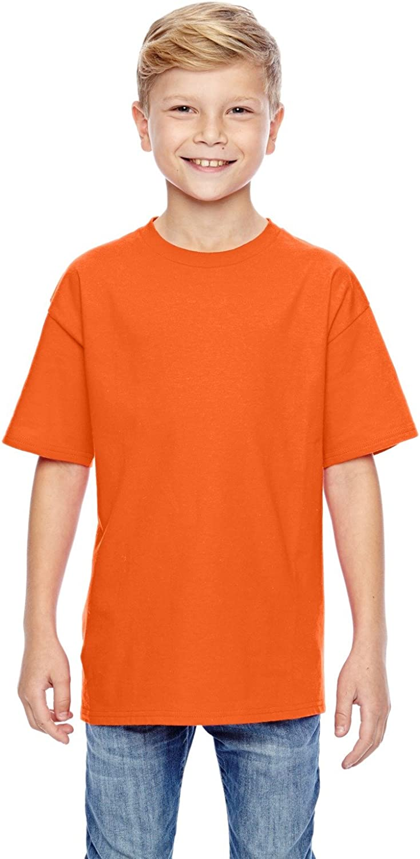 Hanes Youth 45 oz, 100% Ringspun Cotton nano-T T-Shirt - ORANGE - S - (Style # 498Y - Original Label)