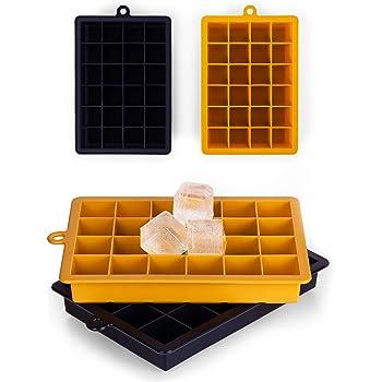 Blumtal Eiswürfelform Silikon - 2x24er Pack, BPA frei, Leichtes Herauslösen der Eiswürfel, Silikon Form