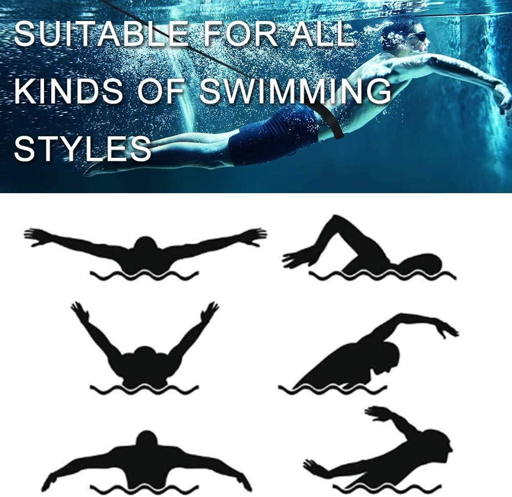Swim Resistance Bands Swim Belt Swim Cords 4M Swim Tether Stationary Swimming for Swim Bungee Cords SAIVEN Swim Training Belt Swim Harness Static Swimming Belt