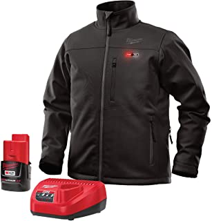 Milwaukee Jacket KIT M12 12V Lithium-Ion Heated Front and Back Heat Zones All Sizes and Colors - Battery and Charger Included(2X-Large, Black)