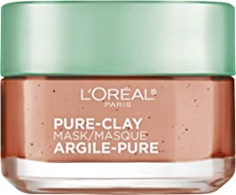 L'OrÃal Paris Skincare Pure-Clay Face Mask with Red Algae for Clogged Pores to Exfoliate And Refine Pores, 1.7 Ounce (Pack of 1)