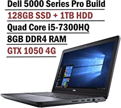 2018 Flagship Dell Inspiron 15 5000 Gaming Edition 5577 Laptop (15.6 Inch FHD Display, Intel Core i5-7300HQ 2.5GHz, 8GB RAM, 128GB SSD + 1TB HDD, NVIDIA GTX 1050 4GB Graphics, Windows 10)