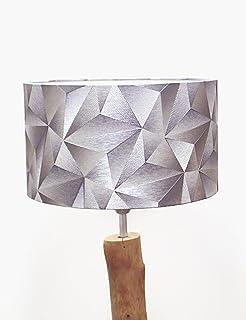 abat-jour motifs géométrique argent tendance graphique Luminaire diamètre personnalisé idée cadeau anniversaire décoration...