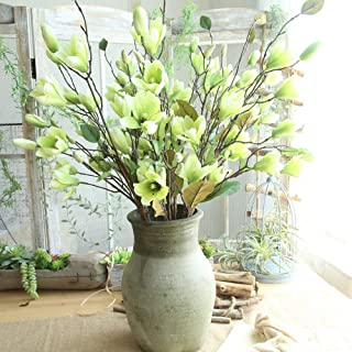Gotian Artificial Fake Flowers Leaf Magnolia Floral Wedding Bouquet Party Home Decor - Wedding Party, Your Home and Garden,Office,Coffee House (Green)