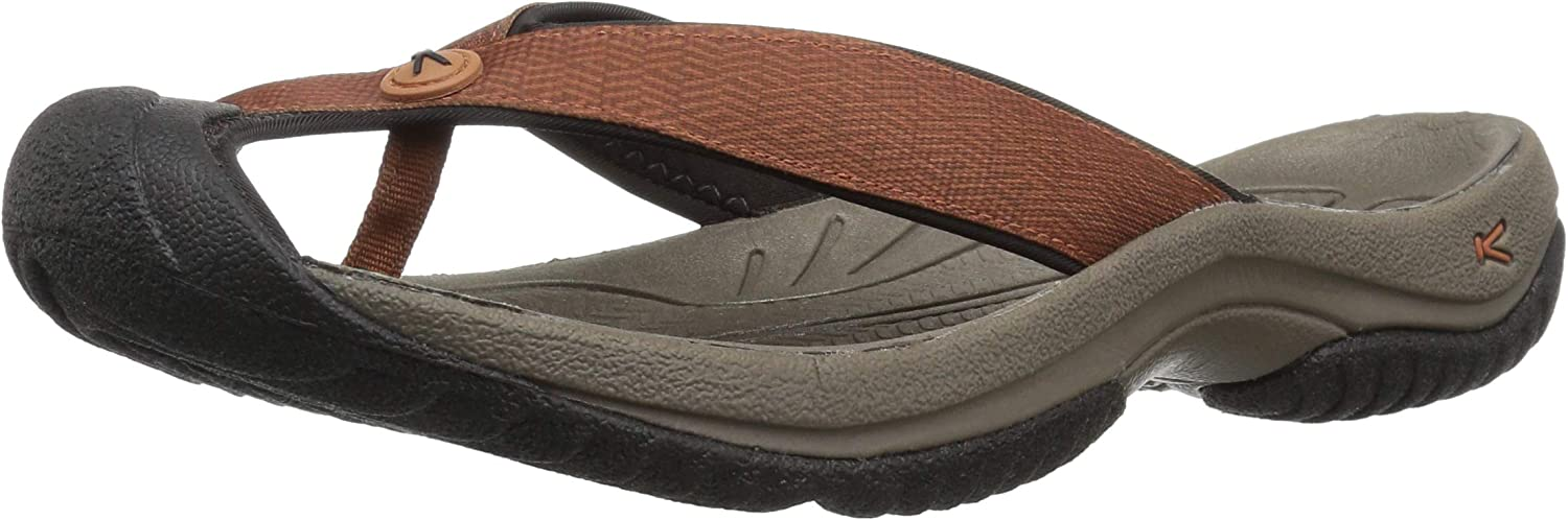 KEEN Men's Waimea H2 Slipper, Tortoise Shell Jet Black, 8.5 M US