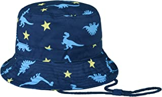 Elikidsto Baby Kids Bucket Hat Cute Cartoon Cotton Fishmen Hat 0-5 Years