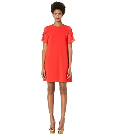 Boutique Moschino Short Sleeve Dress w/ Bows on Sleeves (Red) Women