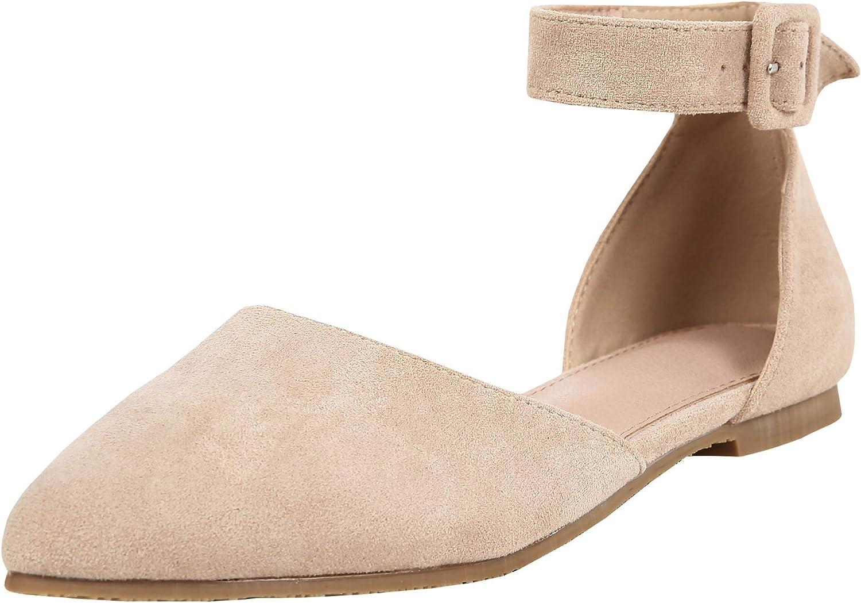 激安通販販売 Chellysun 日本 Womens Pointed Toe Ankle Buckle Chunky Low Heel Strap