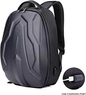 Business Travel Motocycle Backpack 18inch Anti-theif Waterproof 21L Laptops Backpack with USB Charging fits 15.6 inch Laptop Supreme Black