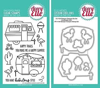 Avery Elle - Glamper Campers Clear Stamps and Dies Set - 2 item bundle