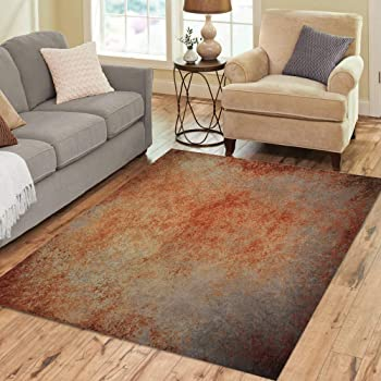 Amazon Com Pinbeam Area Rug Abstract Brown Rust Color Stain Splash Messy Dirty Home Decor Floor Rug 2 X 3 Carpet Kitchen Dining