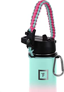 IRON °FLASK Paracord Handle - Fits Wide Mouth Water Bottles - Durable Hydro Carrier, Secure Accessories, Survival Strap Co...