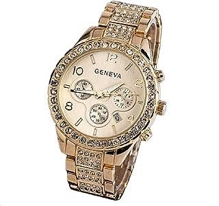 Lookatool Women Fashion Luxury Crystal Quartz Watch