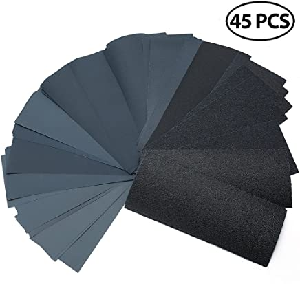 uxcell 220 Grits Wet Dry Sandpaper 9 x 3.7 Waterproof Sandpaper Sheets Silicon Carbide 15pcs
