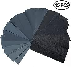 80 to 3000 Grit Sandpaper Assortment, 45PCS 9 x 3.6
