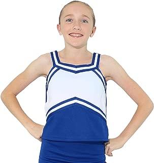 Danzcue Girls Sweetheart Cheerleaders Uniform Shell Top