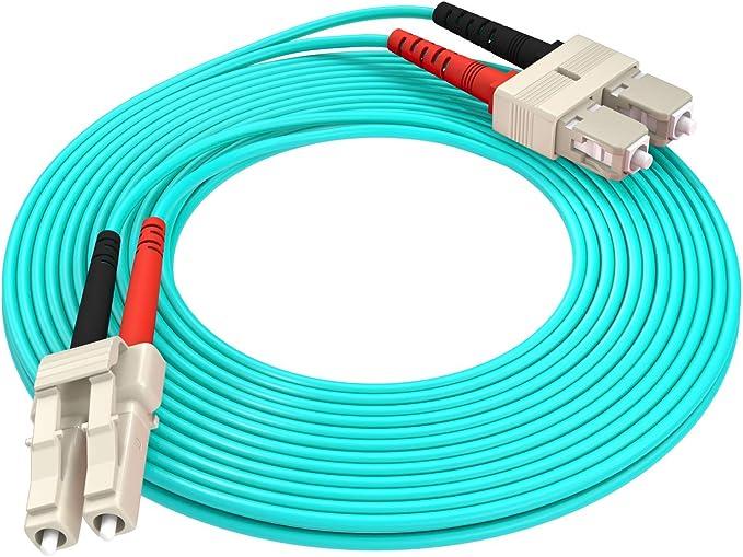 1m Glasfaser Patchkabel LWL LC zu LC OM3 Multimode Duplex 50//125 Glasfaserkabel f/ür 10Gb//Gigabit SFP Transceiver-MEHRWEG