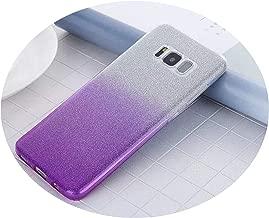 Phone Case Slim Glitter Gradient Case for Samsung Galaxy J3 J5 J7 J2 Prime Pro A3 A5 A7 A8 A 8 Plus Soft Silicon Phone Cover,Purple,J7 J700