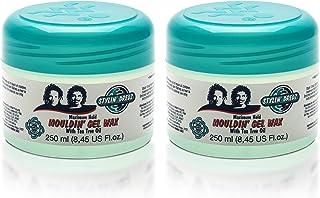 Stylin' Dredz Mouldin' Gel Wax - Loc n Twist Gel - Dreadlock Gel Wax with Tea Tree Oil - 250 ml Pack of 2