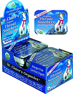 St. Claire's Organics® Throat Soothers, 1.38 oz Tin (Pack of 6)