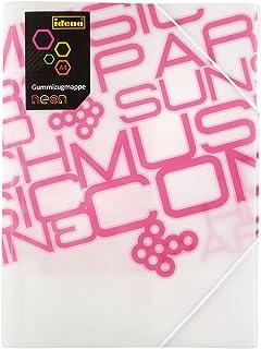 Idena 13862–Chemise à élastique PP, DIN A4, Neon/Rose