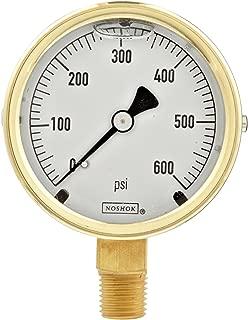 Lower Mount 2.5 dial 30 Hg to 30 psi 1//4 NPT Brass Connection 2.5 dial 1//4 NPT Brass Connection 30 Hg to 30 psi Trerice D82B2502LA030 Industrial Gauge