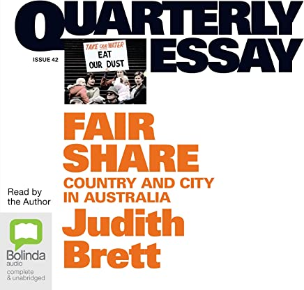 Fair share: Country & city in Australia: 42