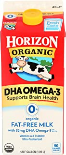 Horizon Organic, Milk Dha Omega 3 Fat Free Organic, 64 Fl Oz