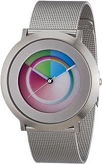 2014L008 - Reloj analógico de Cuarzo Unisex con Correa de Acero Inoxidable, Color Plateado