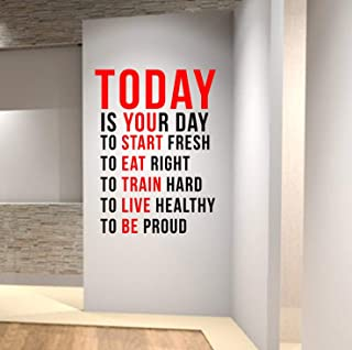 Quotes Wall Decals for Gym, Home Decor, Waterproof Wall Stickers