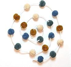 Zoe Frances Designs Yarn Pom Pom Garland - Colorful Hanging Decorations for Nursery, Baby Shower, Birthday, Fall & Christm...