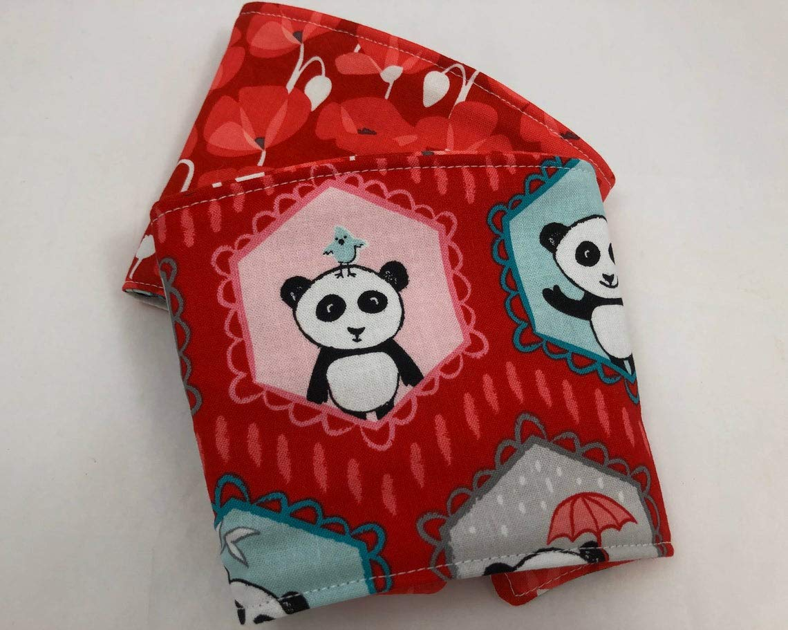 Iced Coffee Sleeve Reversible 35% OFF Cup Cozy Panda Selling and selling Red